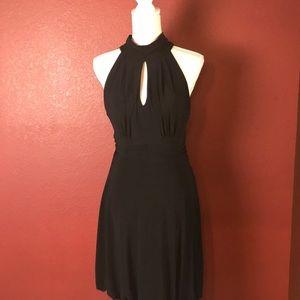 White House Black Market Black Halter Bubble Dress